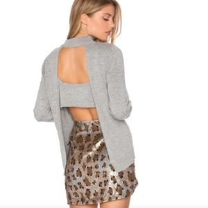 NWT Dolce Vita Open Back Gray Sweater